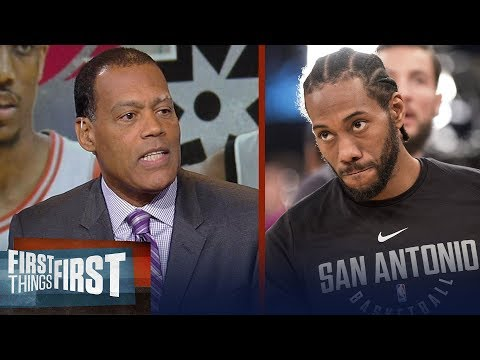 Stu Jackson says Kawhi reported trade to Raptors is 'a very high risk' | NBA | FIRST THINGS FIRST