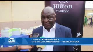 Remise de don par Hilton Yaoundé à Promhandicam