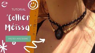 Tuto macramé en Français - apprendre à faire un collier -