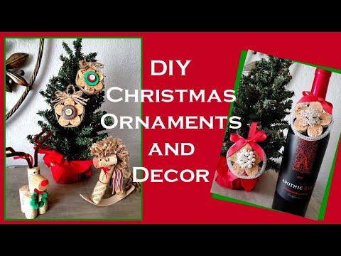 DIY Christmas Ornaments 2019 - Rocking Horse DIY - Reindeer DIY - Wine Cork Crafts