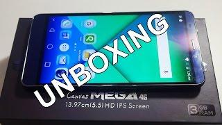 Micromax Canvas Mega 4G Unboxing