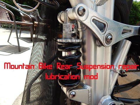 Mountain Bike Rear Suspension Repair Lubrication Youtube