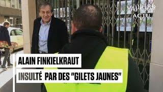 """Des """"gilets jaunes"""" insultent violemment Finkielkraut pendant l"""