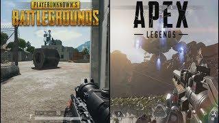 Apex Legends VS PUBG | Comparison ( PC HD ) [1080p60fps]