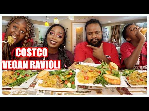 TASTE TEST!! COSTCO VEGAN RAVIOLI | MUKBANG | EATING SHOW