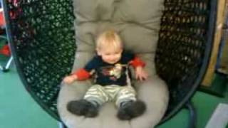 Isaac in an Egg Chair