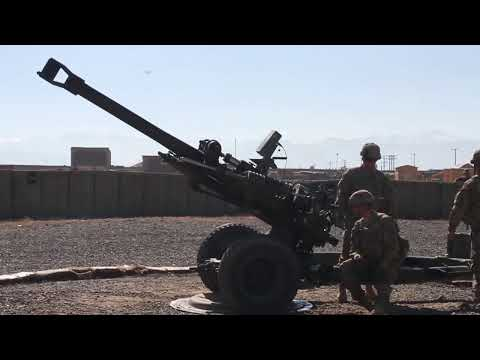 Firing M119 Howitzer -- 3rd Infantry Division