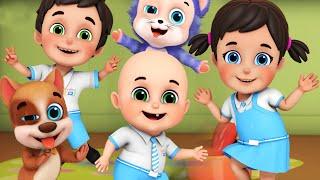 The Stretching and Exercise Song | Head, Shoulders, Knees | baby songs | Jugnu Kids nursery rhymes