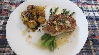 ♥ Easy Pork Chop W/ Asparagus & Roasted Potatoes Recipe
