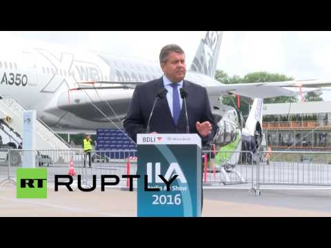 Germany: VC Sigmar Gabriel joins ILA Air Show opening in Berlin