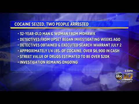 Cocaine seized, two people arrested during search warrant