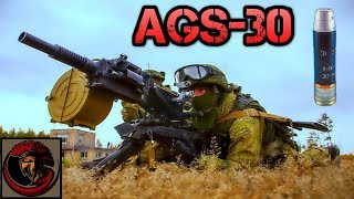 "Ags-30 ""atlant"" Automatic Grenade Launcher 