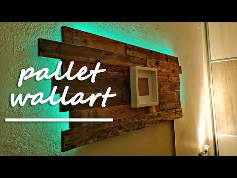 Pallet wall art with RGB LED light | Pallet Project