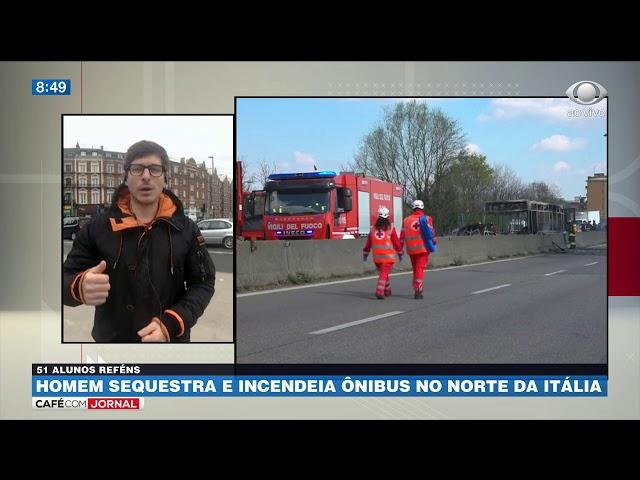 Itália: Homem sequestra ônibus com crianças