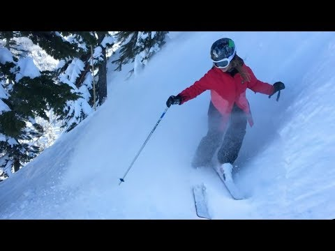 9-Year-Old Skiing Double Black Diamond At Alpental Ski Area 2018