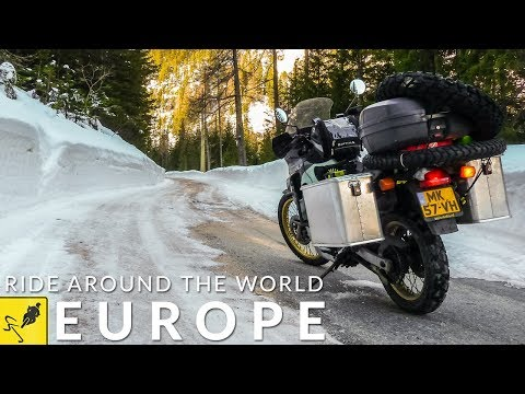 Travel the World on Motorcycle, Europe - Amsterdam to Istanbul!
