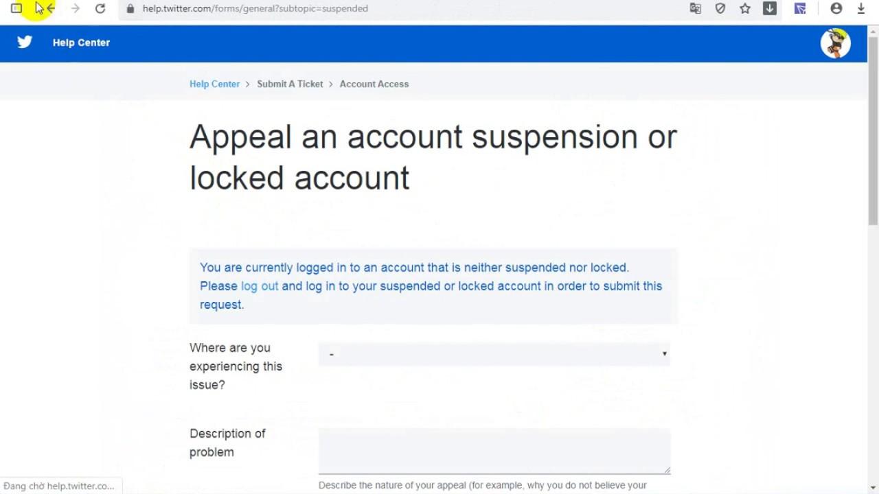 Cách mở khóa tài khoản twitter bị khóa hạn chế tính năng – Suspended