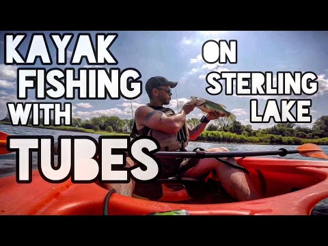 Kayak Fishing With Tubes On Sterling Lake