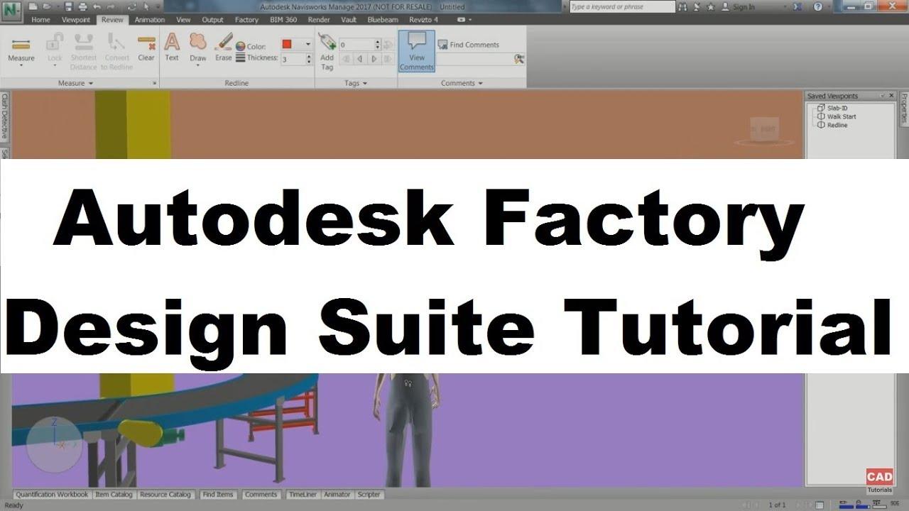 Autodesk Factory Design Suite Tutorial Factory Design Utilities Tutorial Youtube