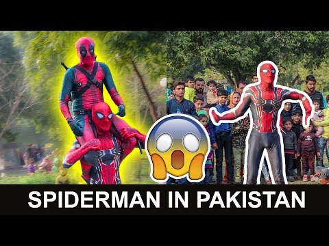 Desi Spiderman Surprises Public in Pakistan