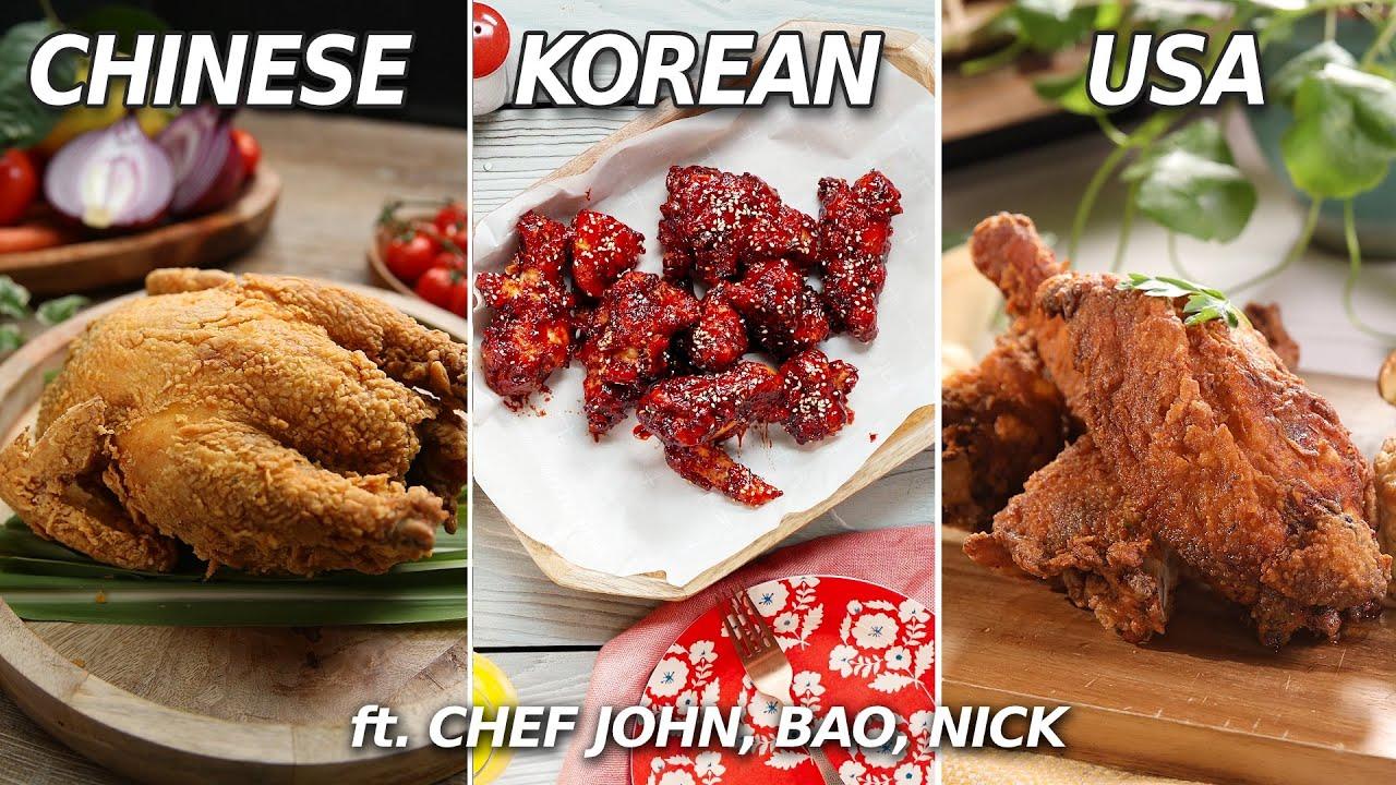 The Tastiest Fried Chicken Around The World   Chinese, Korean, USA • Taste  Show