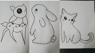 easy drawing idea animals draw