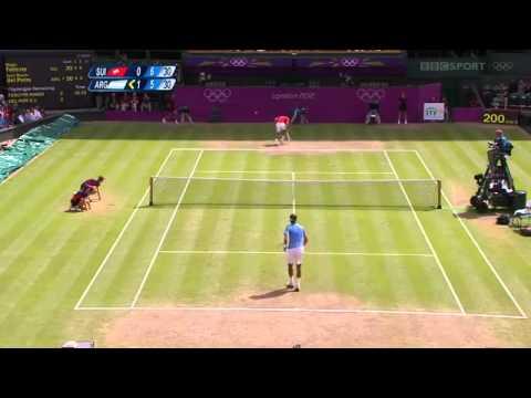 R Federer  J M Del Potro Olympics 2012 SF