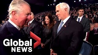 Prince Charles misses a handshake with Mike Pence in awkward moment