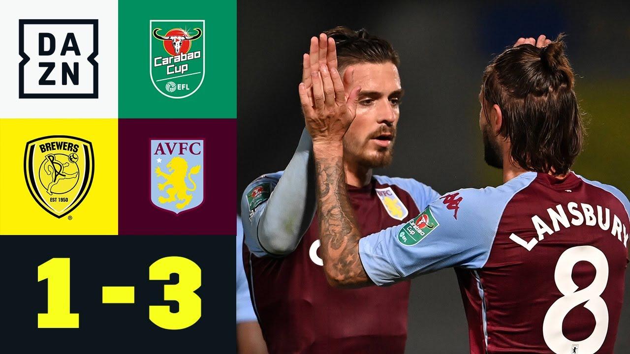 Später Villans-Doppelschlag reicht für Runde 3: Burton Albion - Aston Villa 1:3   Carabao Cup   DAZN