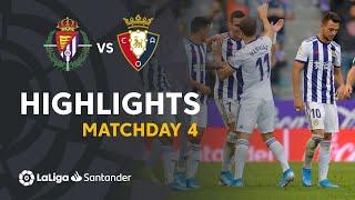 Highlights Real Valladolid vs CA Osasuna (1-1)