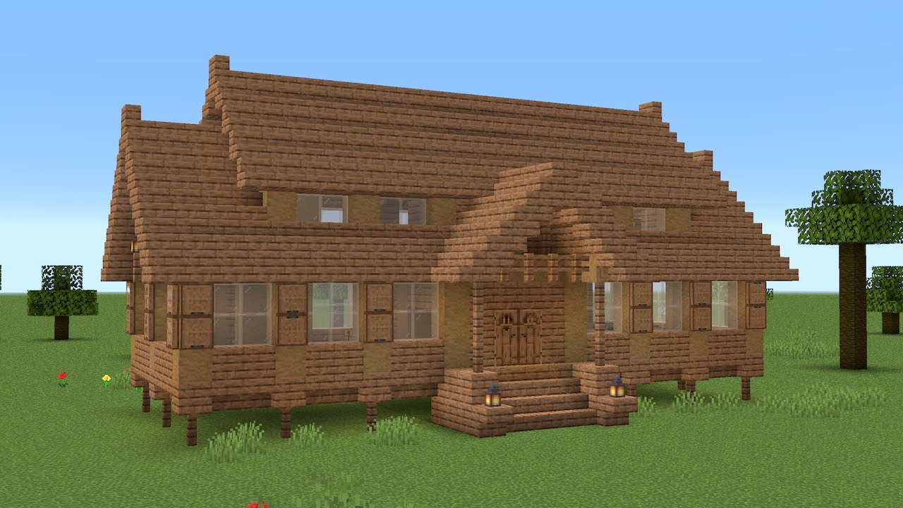 Minecraft - How to build a jungle wood house