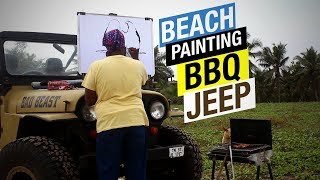 1st Out door Painting - Speed Painting | Jeep | BBQ