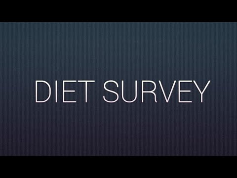 Community medicine: Dietary survey