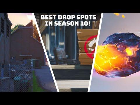 Best *NEW* Drop SPOTS For Easy Wins In Fortnite Season 10 ! (Season X)