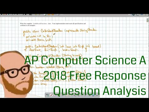 AP Computer Science A 2018 Free Response Discussion