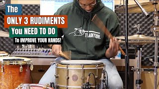 The ONLY 3 RUDIMENTS You NEED TO DO In 2020! Practice Aid Video