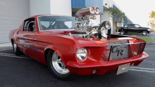 1000HP 1967 S Code Ford Mustang Fastback prostreet blower show car