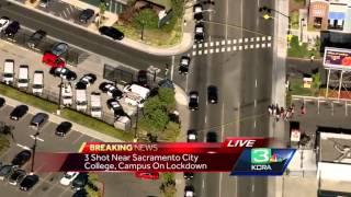3 shot, 1 killed, gunman sought on Sacramento college campus