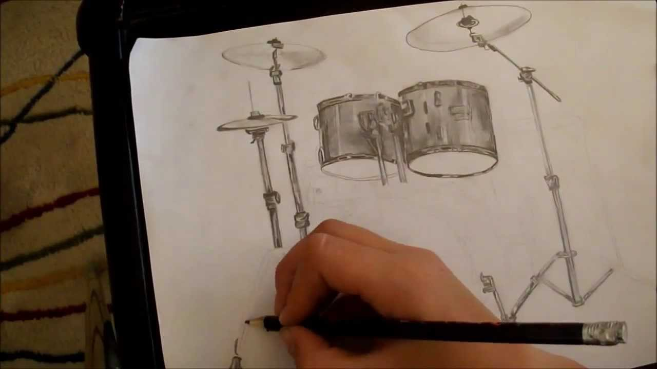 Speed Drawing Drum Kit Youtube