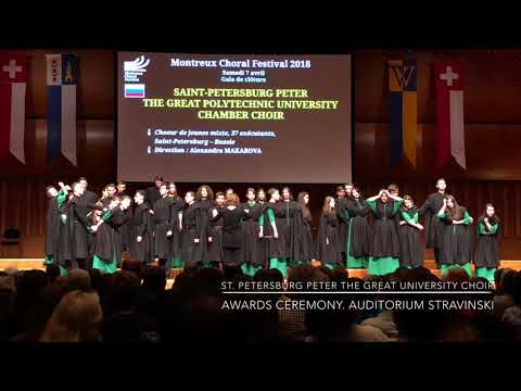 St. Petersburg Peter The Great University Choir. Awards Ceremony. Montreux Choral Festival. (3)