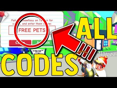 NEW* ALL ADOPT ME CODES 2019 - New Pets Update/ Roblox - YouTube