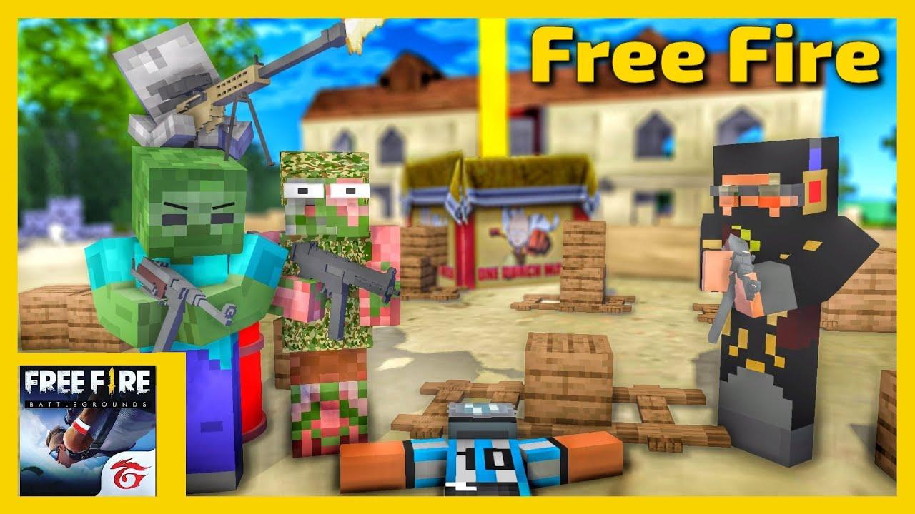 [ Lớp Học Quái Vật ] Trailer Trận Chiến Free Fire | Minecraft Animation