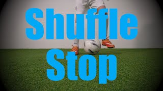 shuffle stop fast footwork drills soccer football first touch training for u6 u7