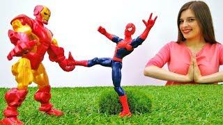ToyClub шоу - Железный человек ищет Человека Паука
