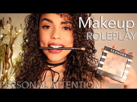ASMR Doing your MAKEUP ( Roleplay, Personal Attention, Soft spoken )