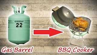 How to Build BBQ cooker from gas barrel /BOB Vlogger