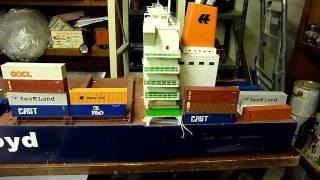ho scale hapag lloyd container ship (in progress).mpg