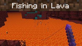 Fishing in Lava (Minecraft 1.16 Datapack)