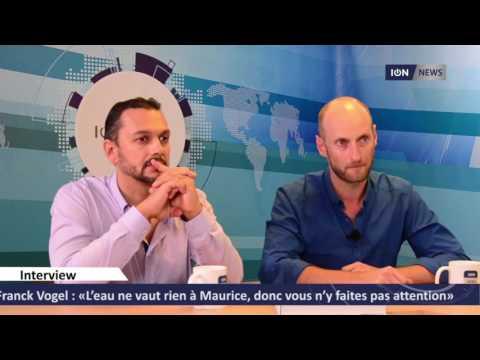 Franck Vogel : « L'eau ne vaut rien à Maurice, donc vous n'y faites pas attention »