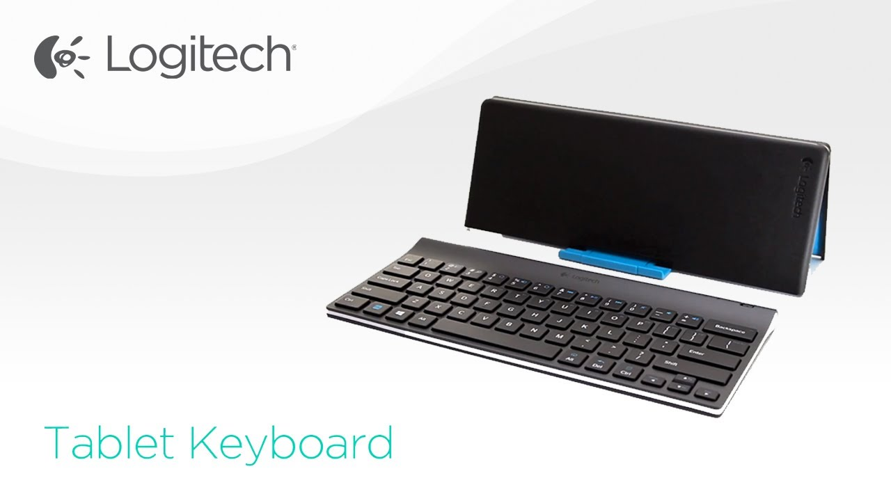 d2118f1774f Logitech® Tablet Keyboard for Win8/RT and Android - YouTube